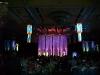 Video Tube Chandelier in Ballroom